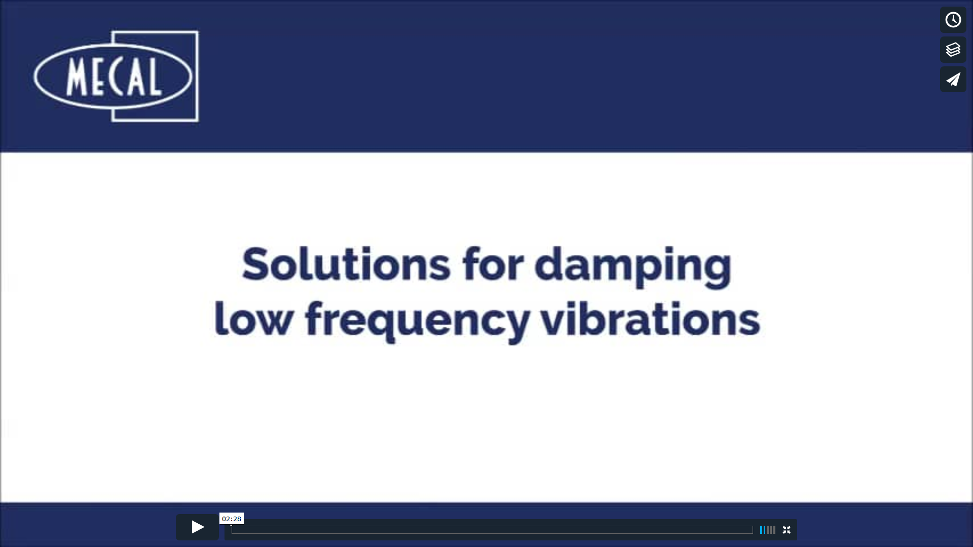 Video Solutions for damping low frequency vibrations
